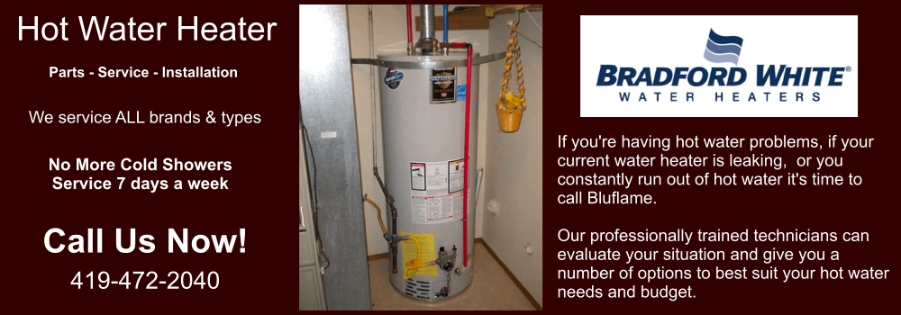 Water Heater Services Toledo Supply Installation Repair Bluflame