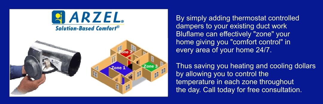 Arzel zoning temperature control