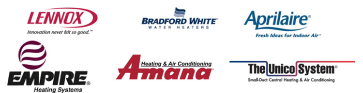 HVAC heating brand logos