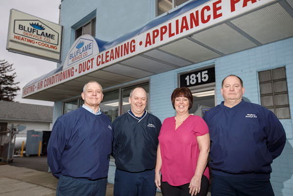 HVAC management team, 3 man and a woman